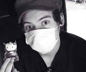 Harry Styles, black and white, and japan image