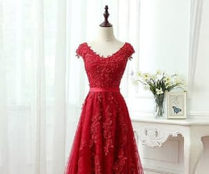 red prom dress, cute prom dress, and cheap evening dresses image
