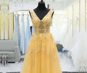 modest prom dress, prom dress long, and custom made prom dress image