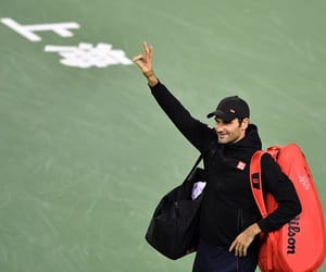 athlete, federer, and fitness image