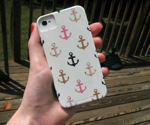 iphone, case, and anchor image