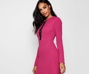 dress, lace up, and womens image