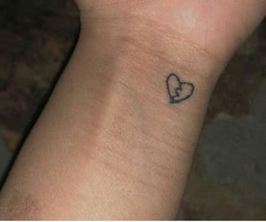 broken heart, tattoo, and xxxtentacion tattoo image