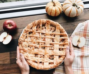 fall, leaves, and pie image