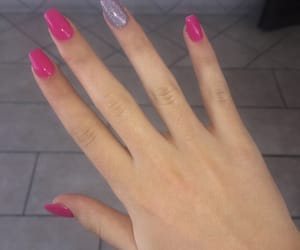 beauty, fingers, and fuxia image