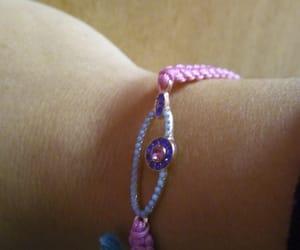 blue, diamonds, and pink image
