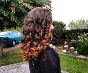 curls, curly hair, and ombre image