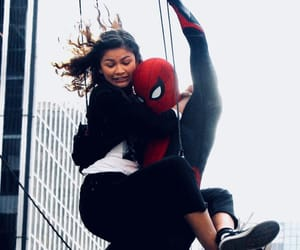 michelle, peter parker, and zendaya image