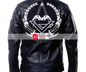 black leather jacket image