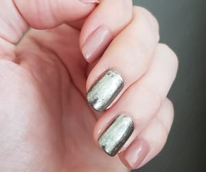 argent, nail art, and simple image