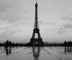 black and white, france, and parís image