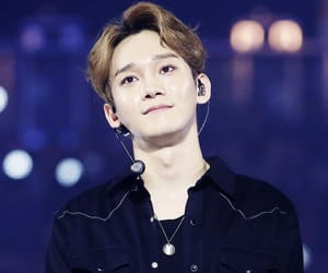 black, Chen, and exo image