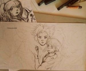 sketch, sketchbook, and characterillustration image