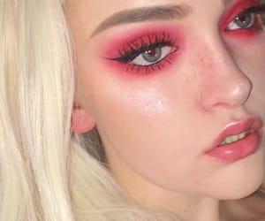 eyelashes, eyes, and makeup image
