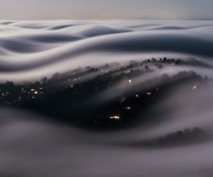 clouds, fog, and night image