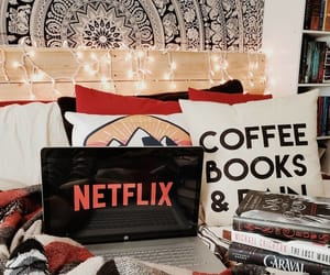 autumn, netflix, and coffee image
