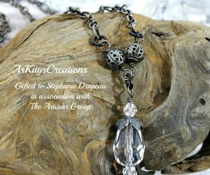 crystal jewelry, etsy, and victorian gothic image