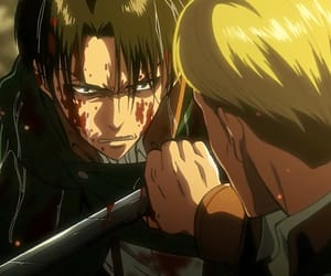 attack on titan, Erwin, and levi image