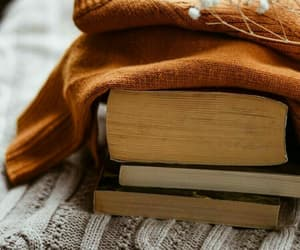book, autumn, and sweater image