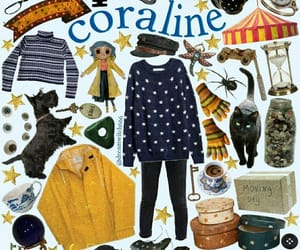 aesthetic, blue, and coraline image