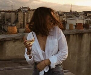 girl, fashion, and wine image