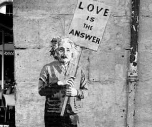 love, einstein, and quotes image