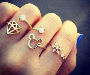 rings, diamond, and nails image