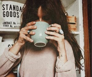 girl, coffee, and indie image