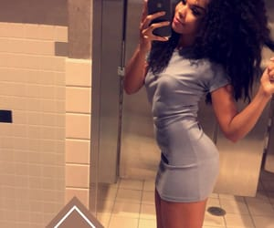 body, curly, and dress image