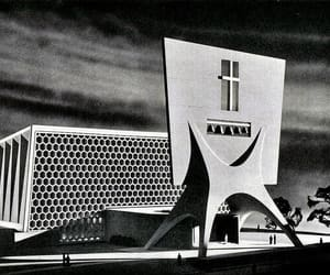 1950s, architecture, and church image