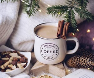 winter, Cinnamon, and coffee image