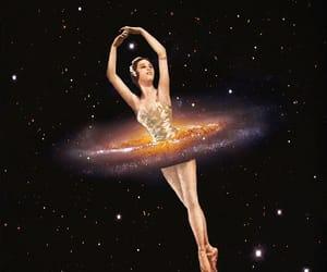 ballerina and galaxy image