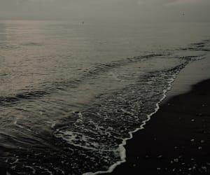 autumn, beach, and dark image