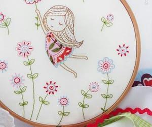 bordado, embroidery, and girl image