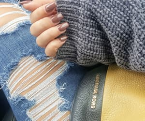 autumn, fall, and ripped jeans image