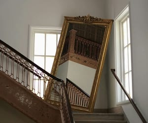 life, mirror, and stairs image