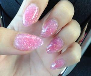girly, nails, and sharp image