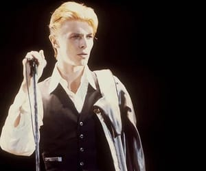 david bowie, fashion, and concert image