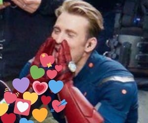 meme, chris evans, and steve rogers image