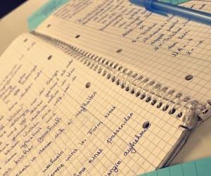 homework, pen, and maths image