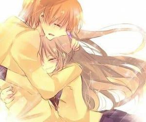 anime, angel beats, and hug image