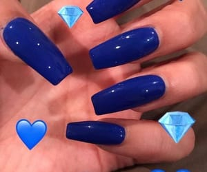 nails, blue, and acrylic image