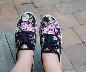 shoes, fashion, and flower image
