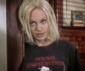 Angelina Jolie, blonde, and grunge image