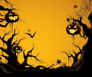 background, desktop, and Halloween image