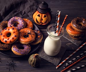 Halloween, food, and donuts image