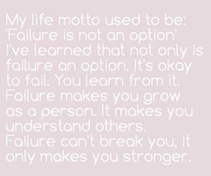 failure, Stronger, and quotes image