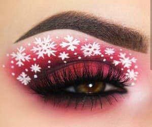 makeup, christmas, and red image