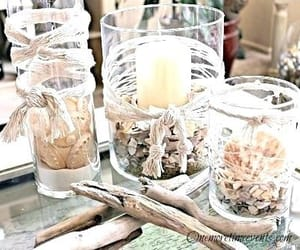 beach, candle, and cups image