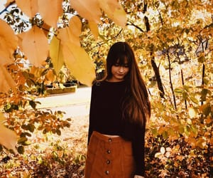 autumn, bangs, and fall image